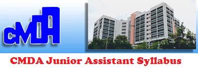 CMDA Junior Assistant Syllabus