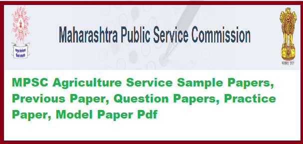 MPSC Agriculture Service Sample Papers