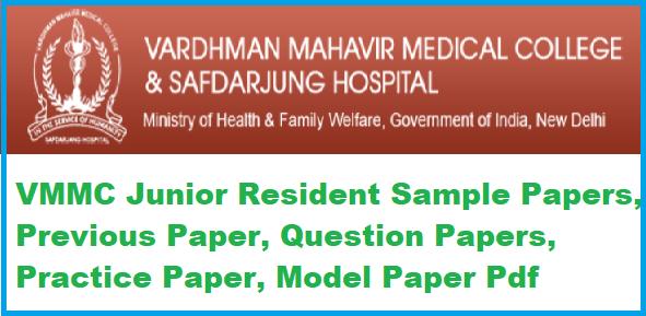 VMMC Junior Resident Sample Papers