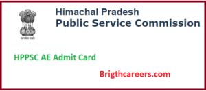 HPPSC AE Admit Card